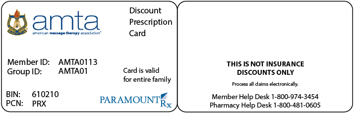 AMTA Discount Prescription Card